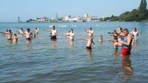 Beim Training im Bodensee
